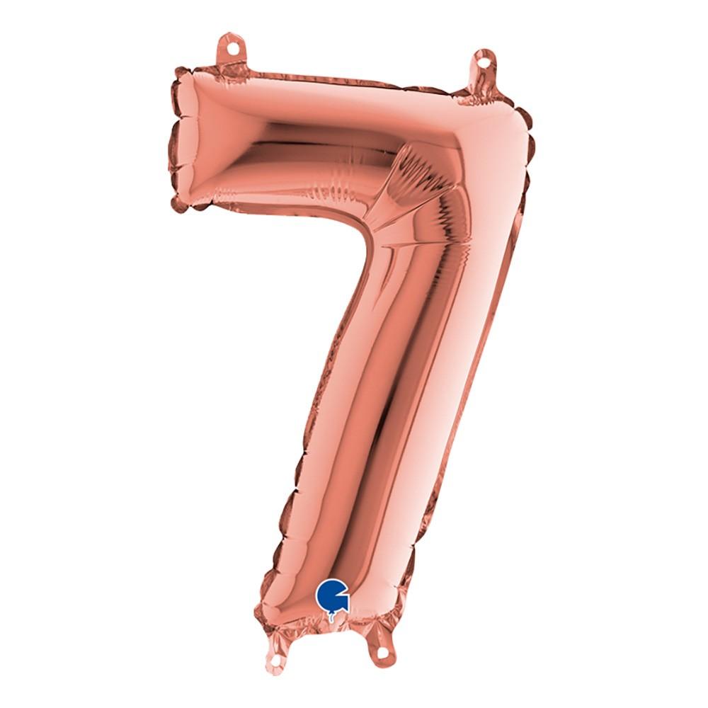 Sifferballong Mini Roséguld Metallic - Siffra 7