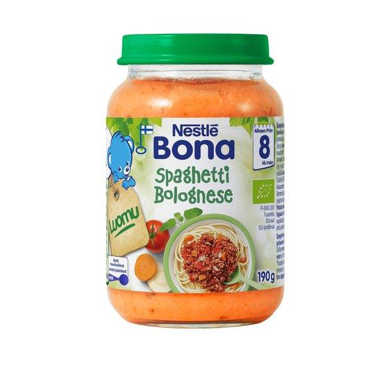 "Luomu lastenruokaa ""Spaghetti Bolognese"" 190g - 7% alennus"