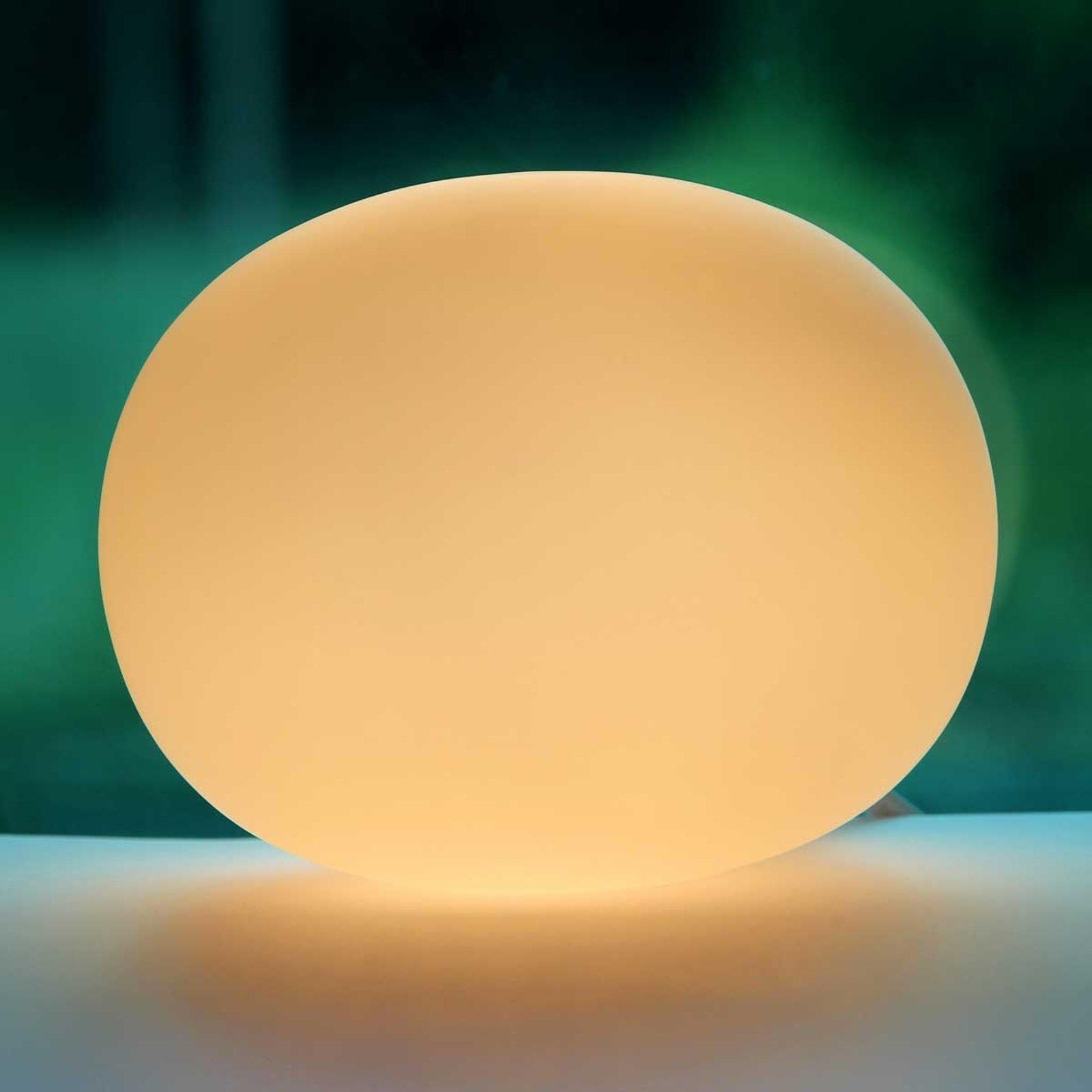 Bordlampe glass Oval mini 12 cm
