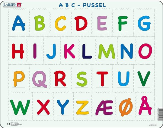 Larsen Alfabetet Rammepuslespill 29 Biter