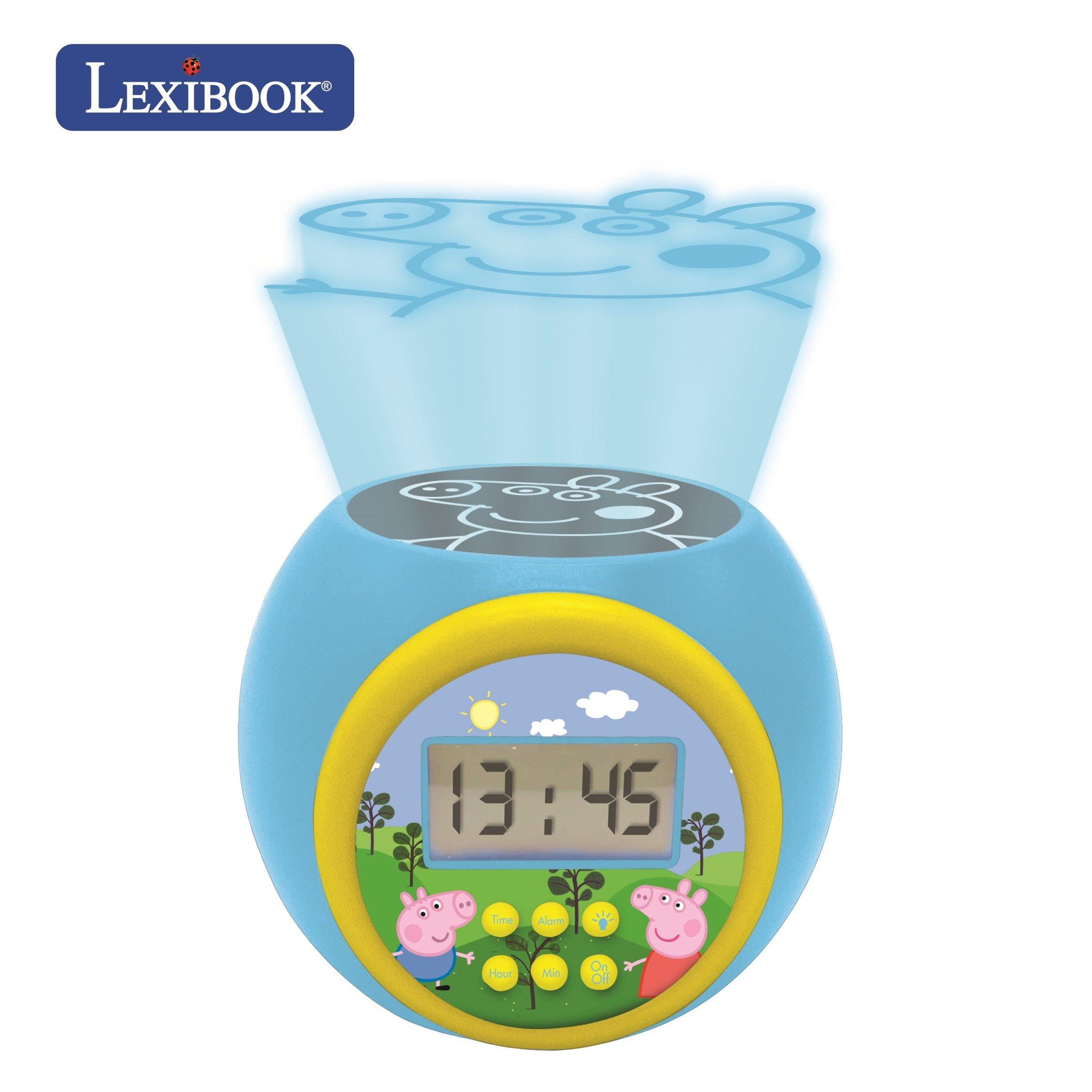 Lexibook - Peppa Pig Projector Alarm Clock with Timer (RL977PP)