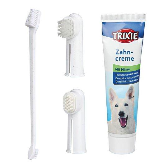 Trixie Tandvårdssett med tandkräm och tandborste