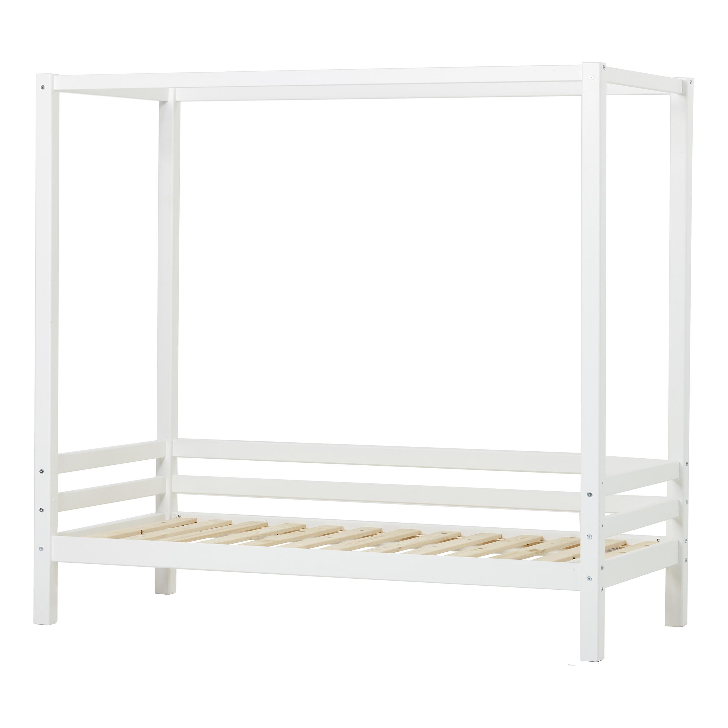 Hoppekids - BASIC Canopy bed 90×200 cm - White