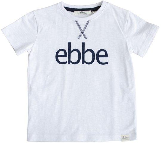Ebbe Hendrix Logo T-Skjorte, Soft White, 86