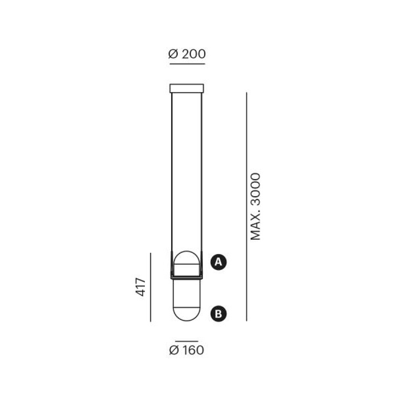 LOUM Pille -LED-riippuvalaisin kupari/samppanja