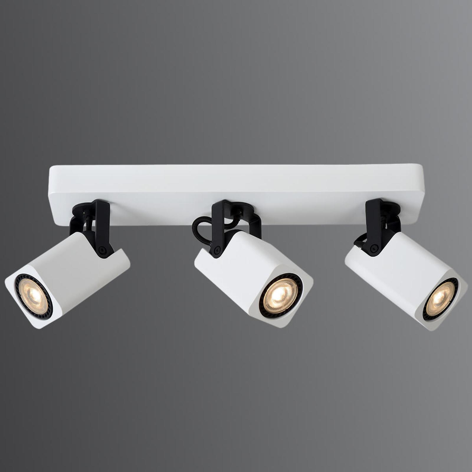 Valkoinen LED-kattokohdevalo Roax, 3-lamppuinen