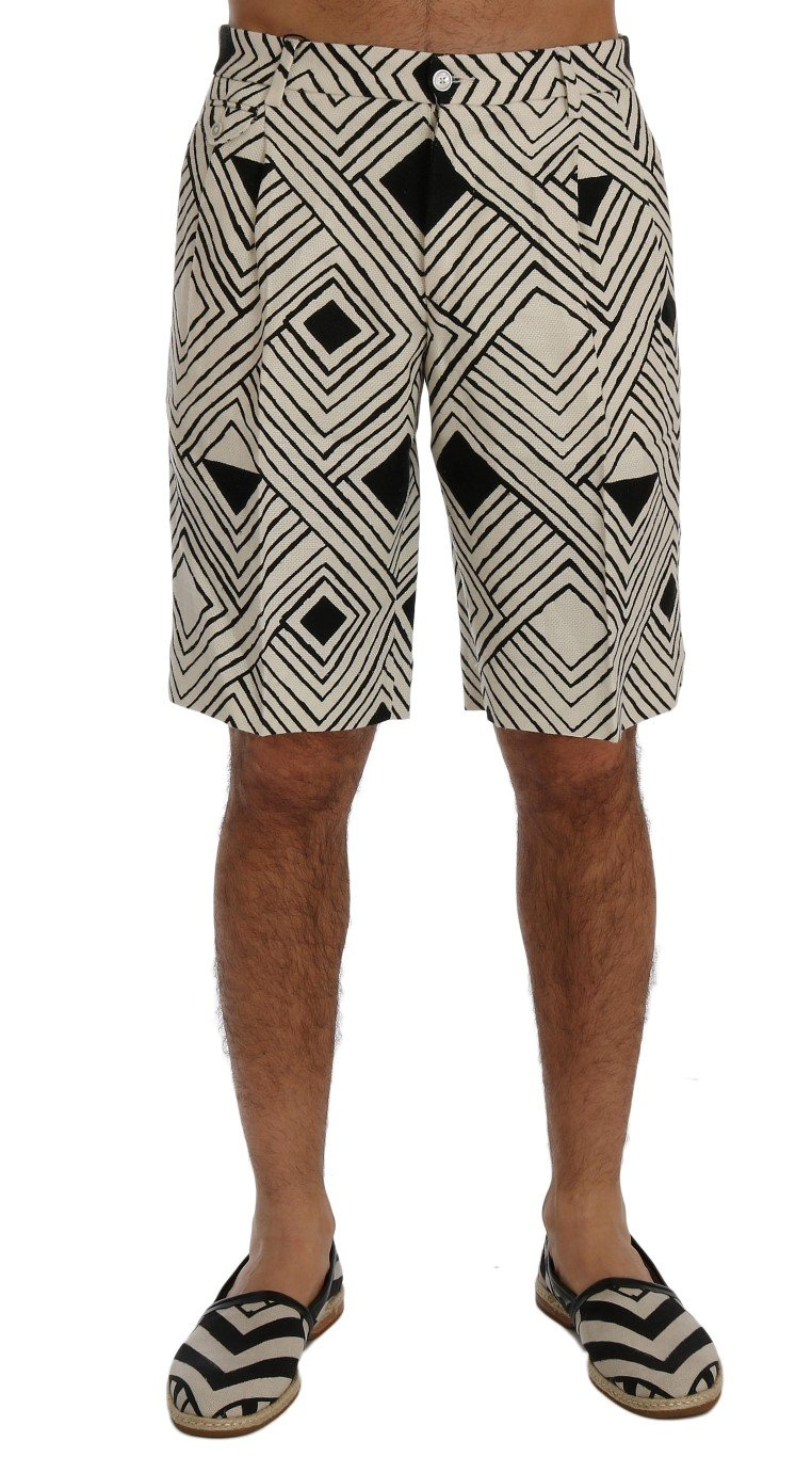 Dolce & Gabbana Men's Striped Casual Shorts Multicolor SIG60405 - IT46 | S