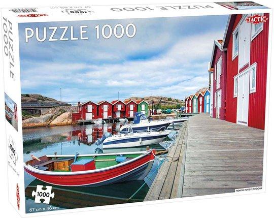 Tactic Puslespill Fishing Huts in Smögen 1000 brikker