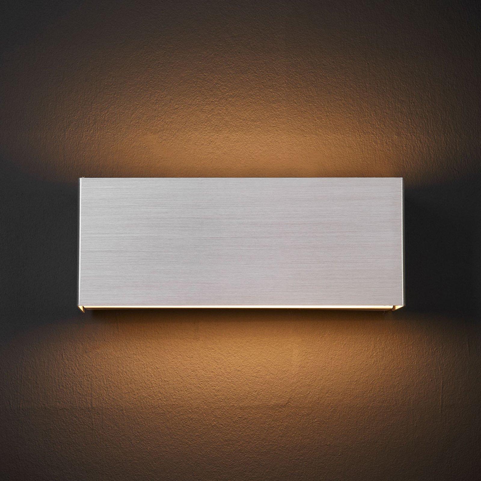 LED-vegglampe Kimberly, 23x9cm, aluminium