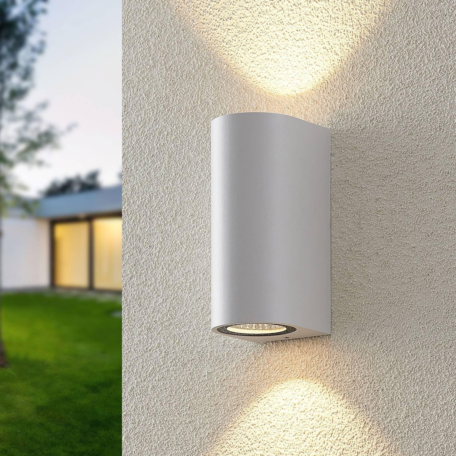 ELC Latika utendørs LED-vegglampe, hvit