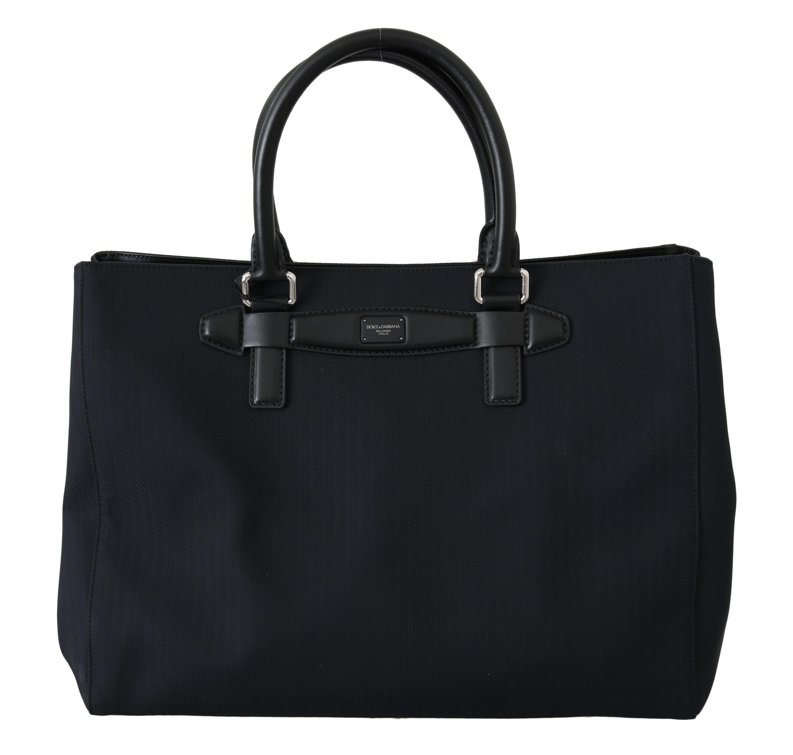 Black Handbag Shopping Tote Borse Travel Nylon Bag