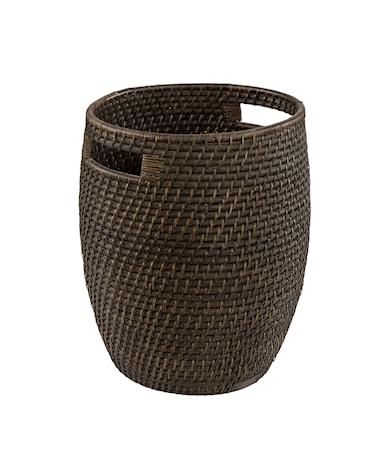 AMAZON round basket deep brown