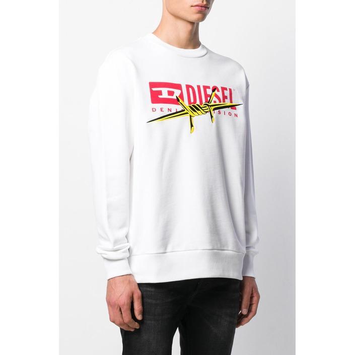 Diesel Men's Sweatshirt White 293899 - white L