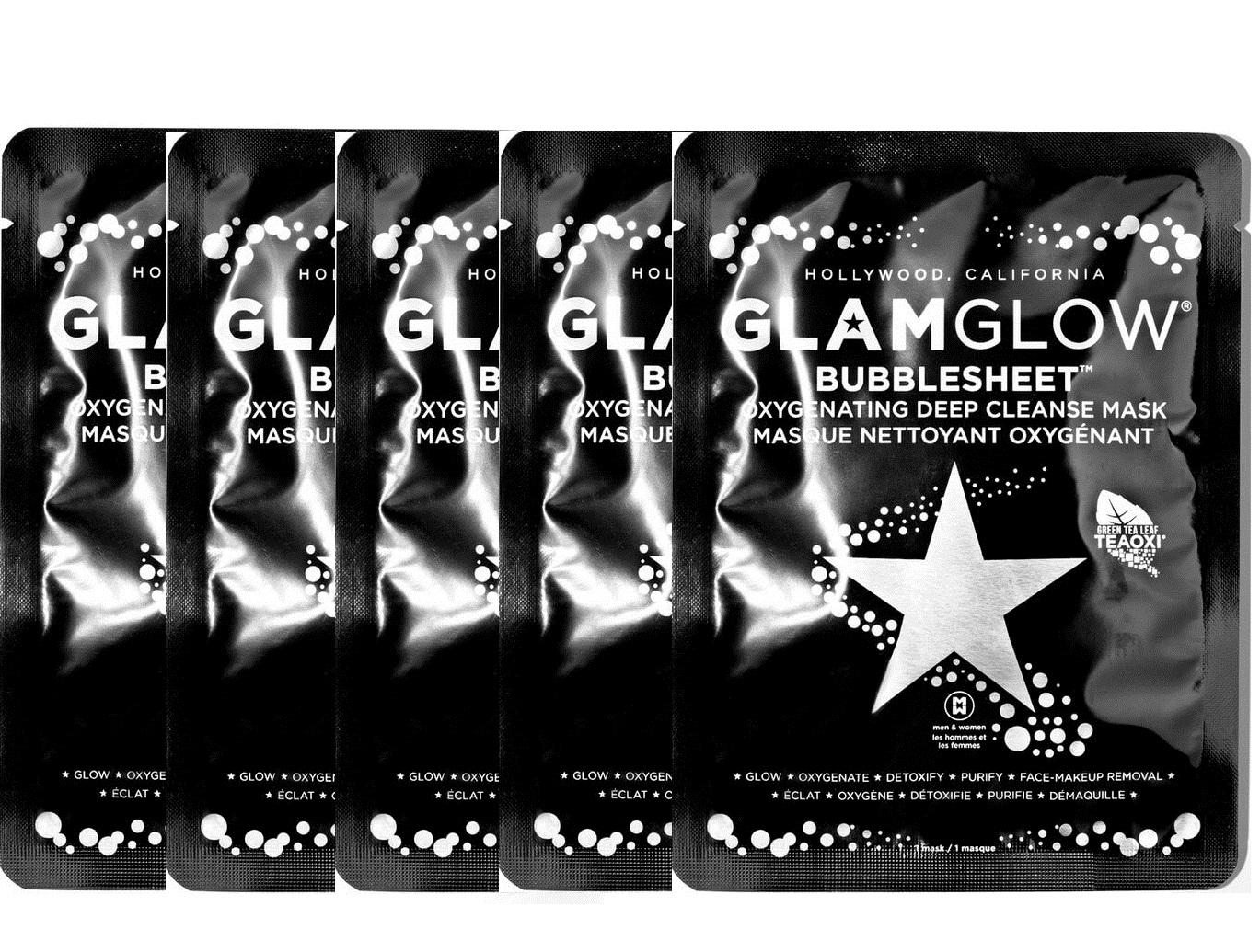 GlamGlow - 5x Bubblesheet Oxygenating Deep Cleanse Mask