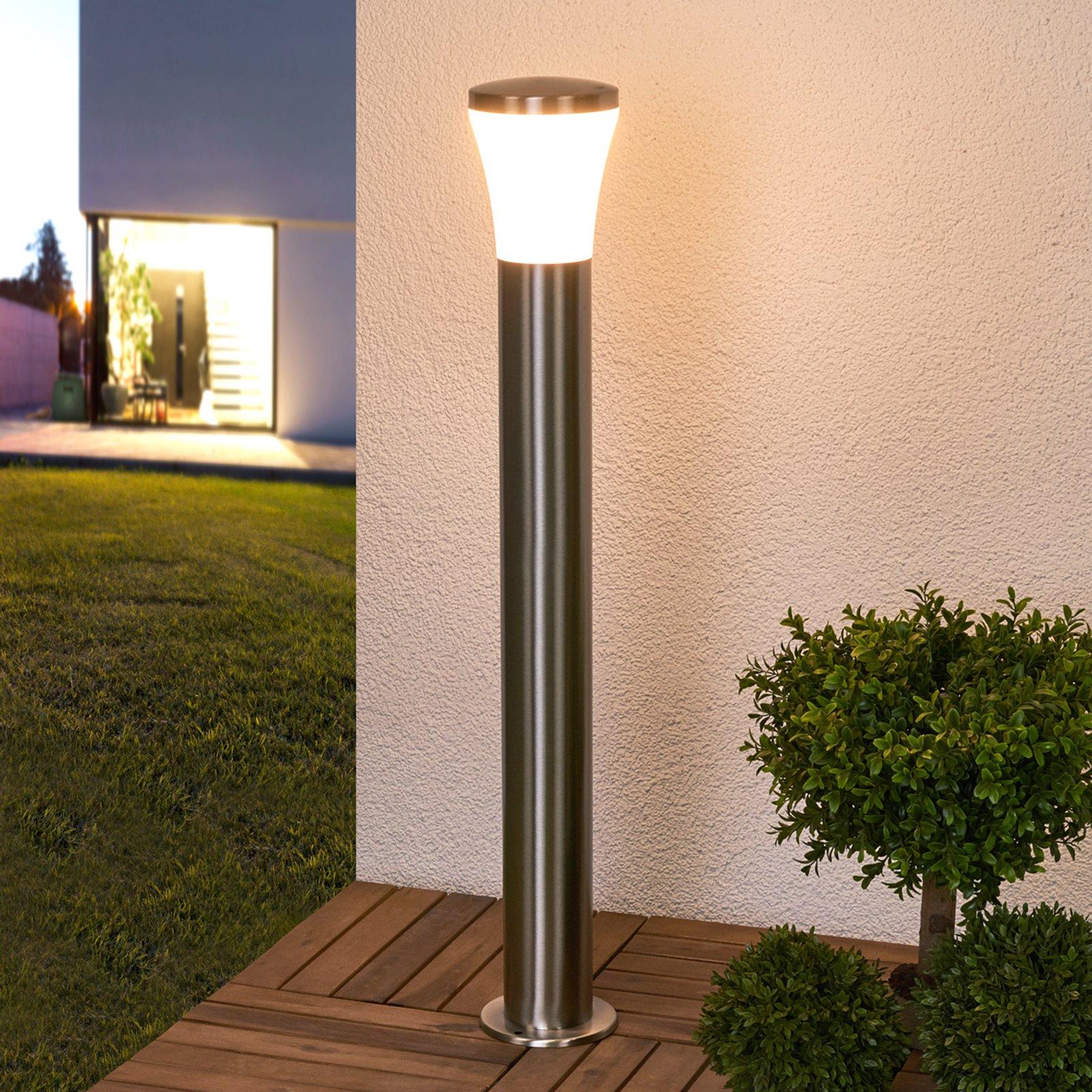 Edelstål-LED-veilampe Sumea