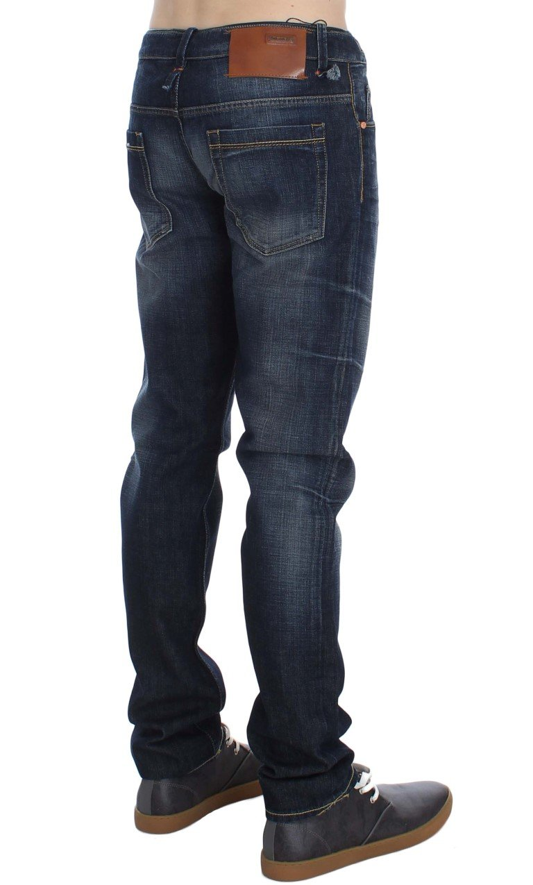 ACHT Men's Denim Straight Fit Jeans Blue SIG30544 - W34