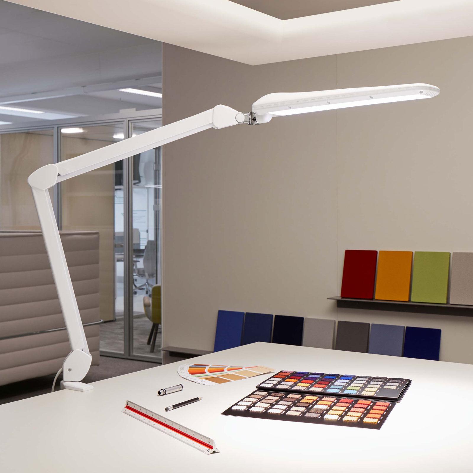 LED-pöytälamppu MAULcraft klipsijalka, himmennys