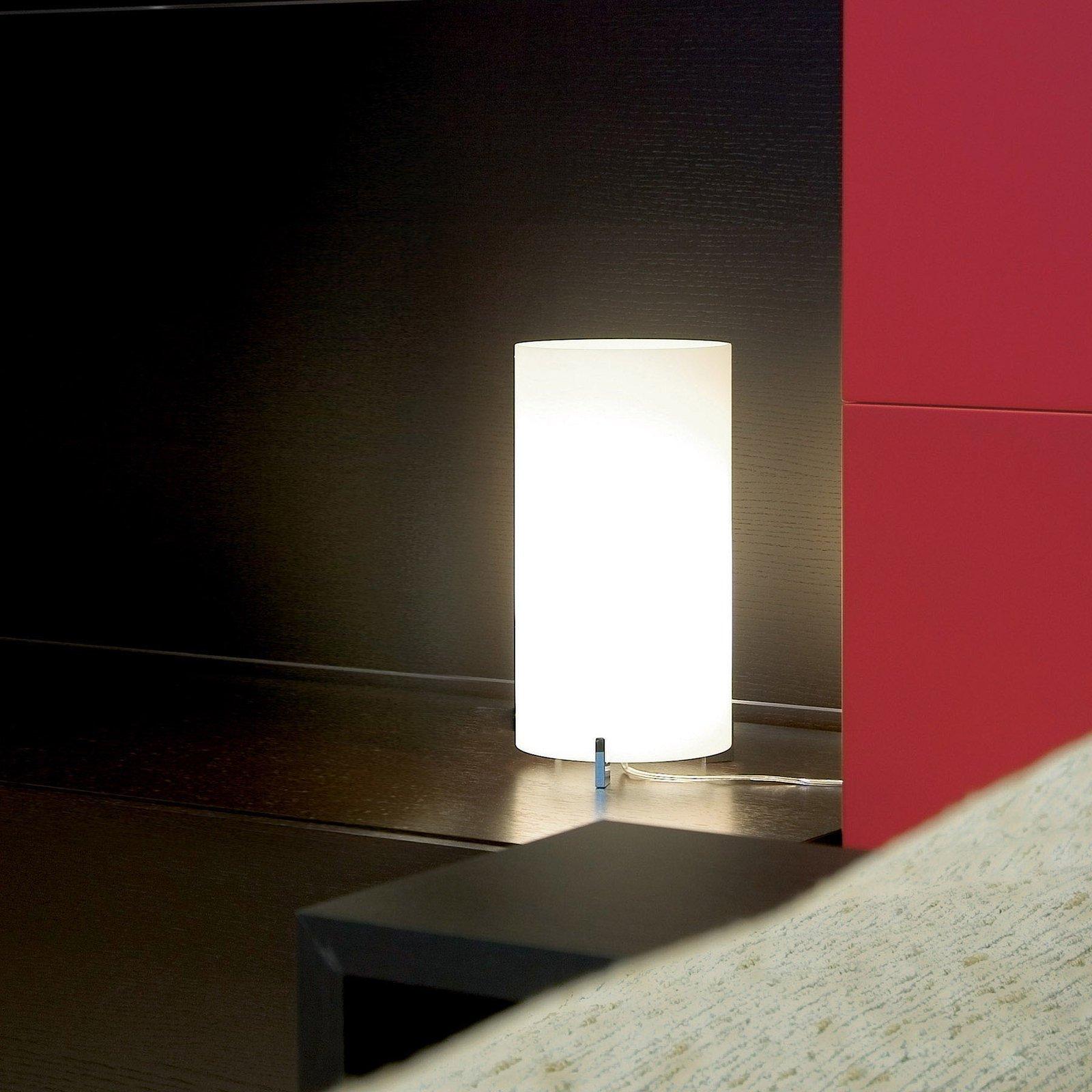 Prandina CPL Smal T1 bordlampe, krom, glass opal