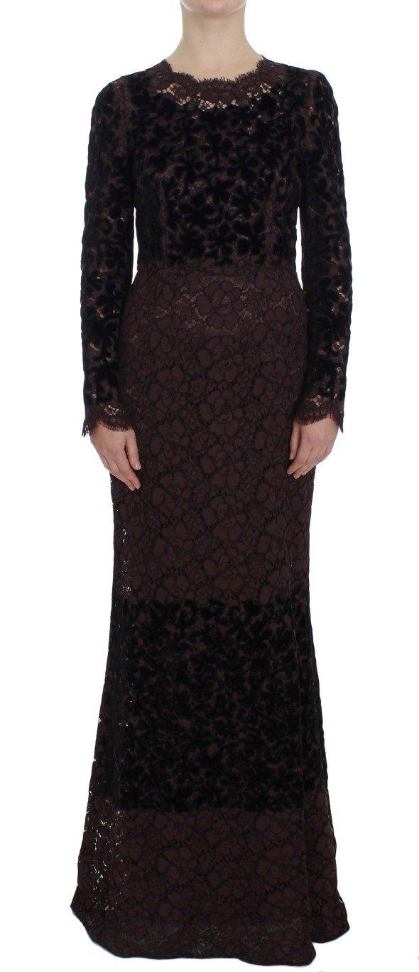 Dolce & Gabbana Women's Floral Lace Ricamo Dress Black NOC10092 - IT44 L