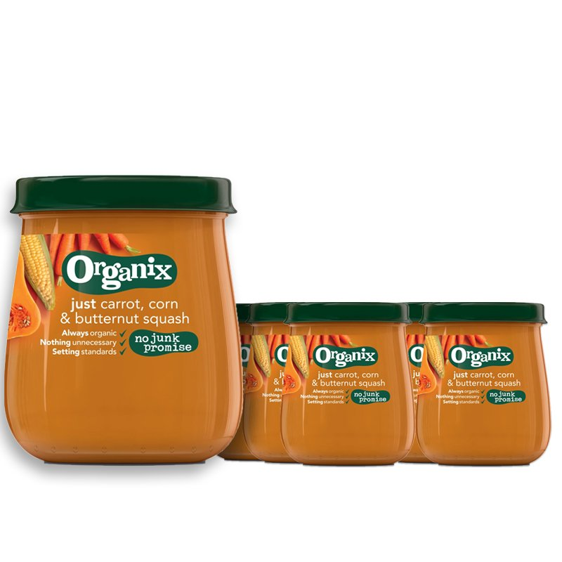 Laatikollinen Lastenruokaa Porkkana, Maissi & Kurpitsa 6 x 120g - 29% alennus