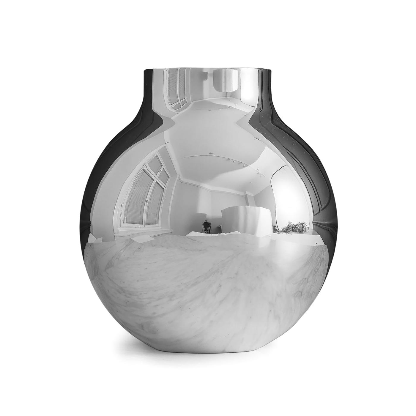 Vas BOULE Large silver, Skultuna