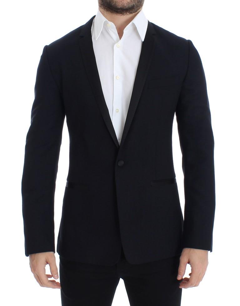 Dolce & Gabbana Men's Wool GOLD slim fit Blazer Blue SIG12213 - IT46 | S