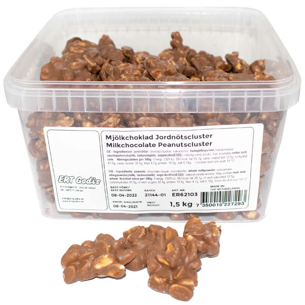 Mjölkchoklad Jordnötscluster-1,5 kg