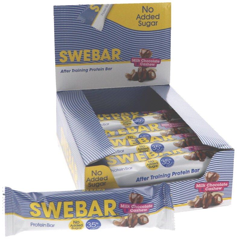Proteinbars Mjölkchoklad & Cashew 15-pack - 30% rabatt