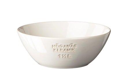 HK Skål 1,5 L hvit blank