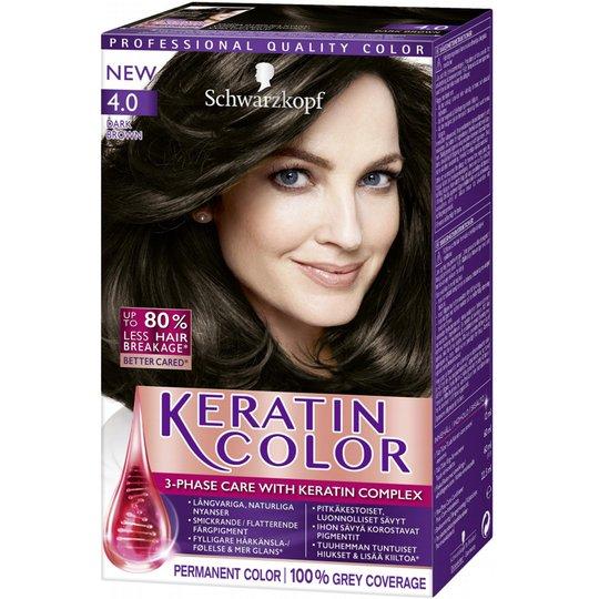 "Hårfärg ""Keratin Color Hårfärg 4.0 Dark Brown"" - 38% rabatt"