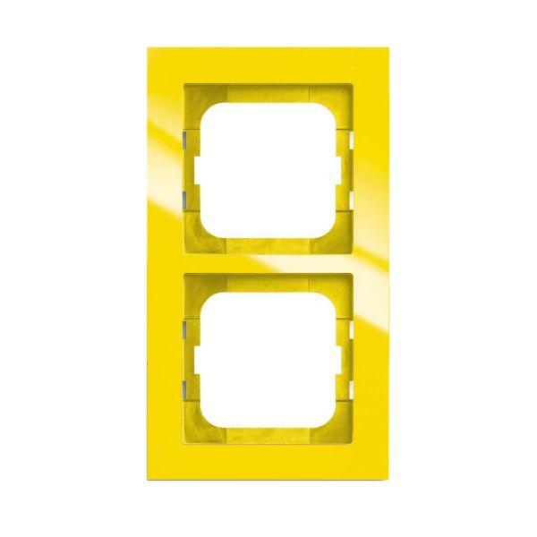 ABB Axcent Yhdistelmäkehys keltainen 2-paikkainen