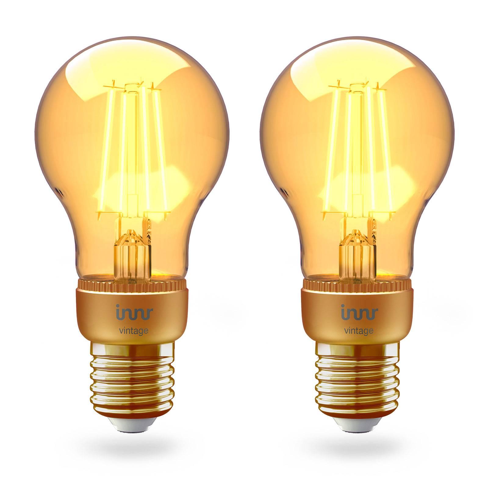 Innr LED E27 4,2W Smart Filament kulta, 2 kpl