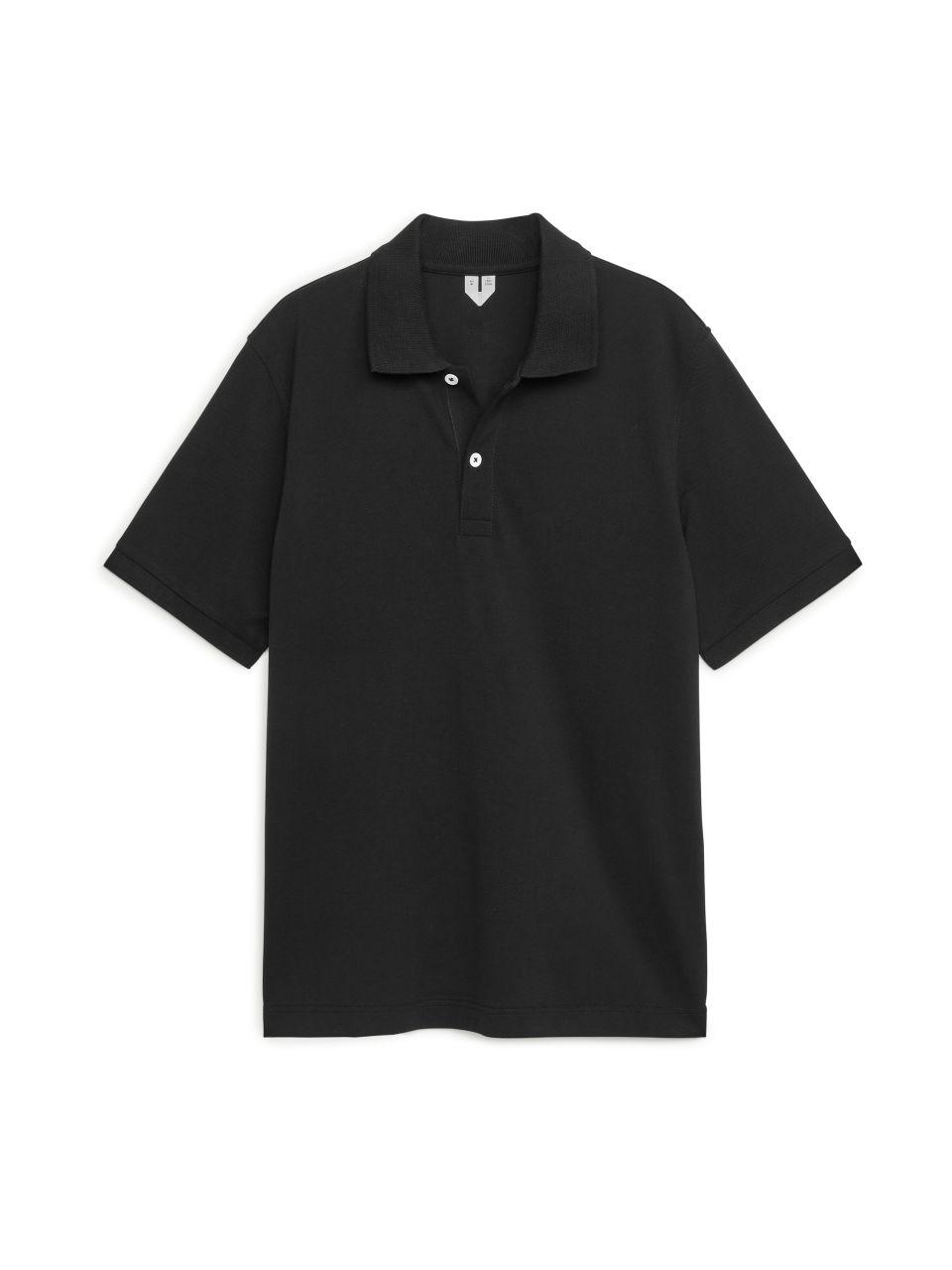 Piqué Polo Shirt - Black