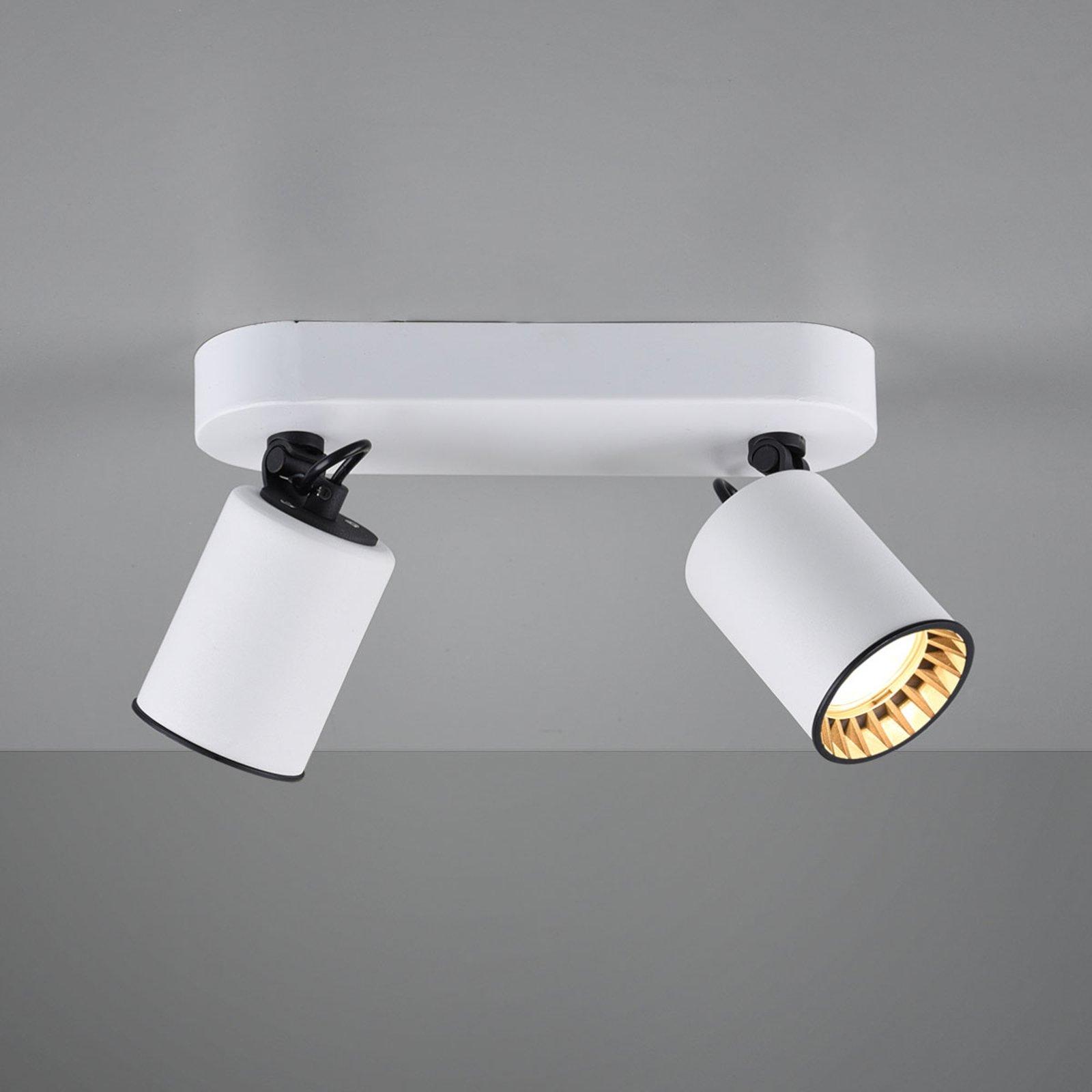 Takspot Pago, 2 lyskilder, hvit