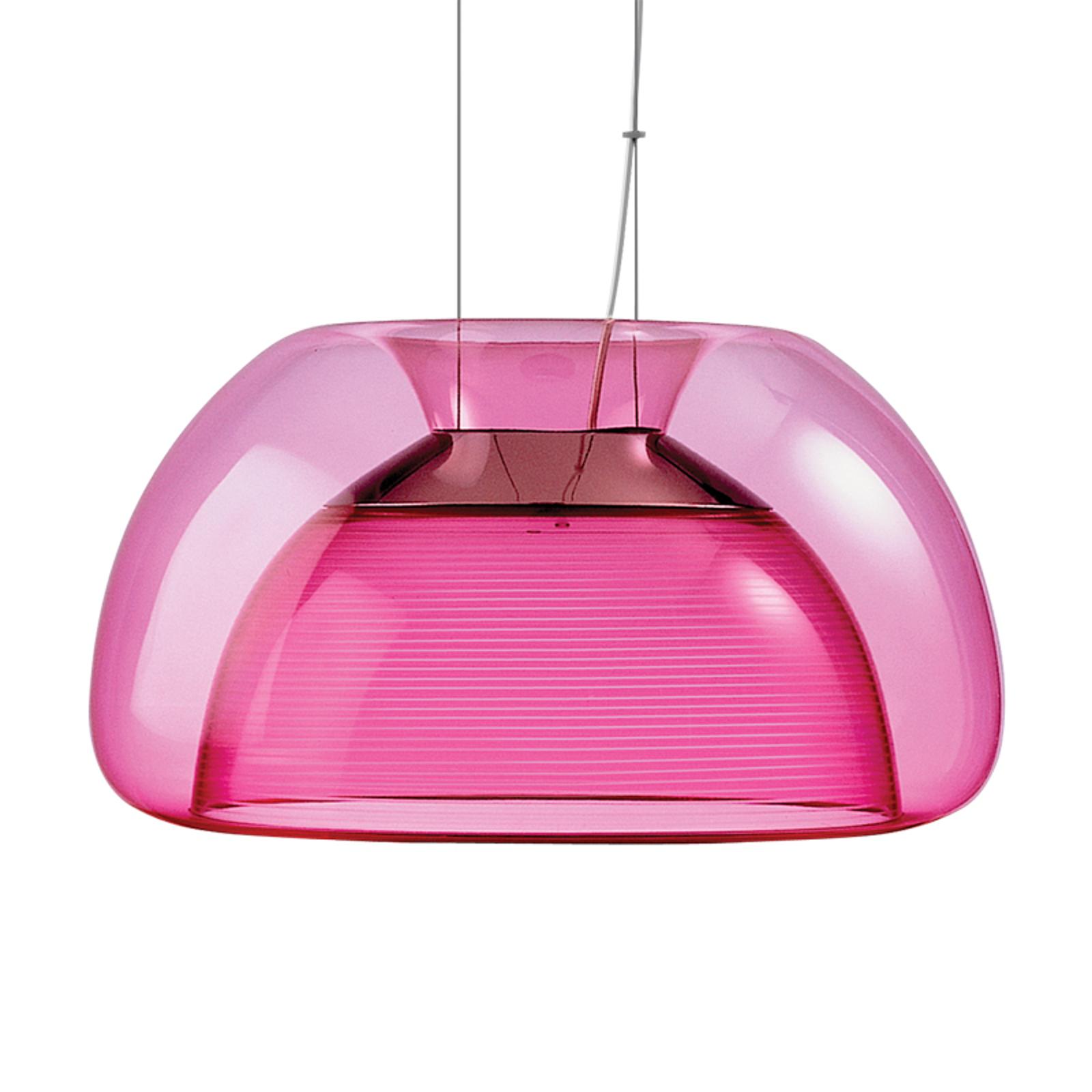 Värikäs Aurelia-LED-riippuvalaisin, vaal.punainen