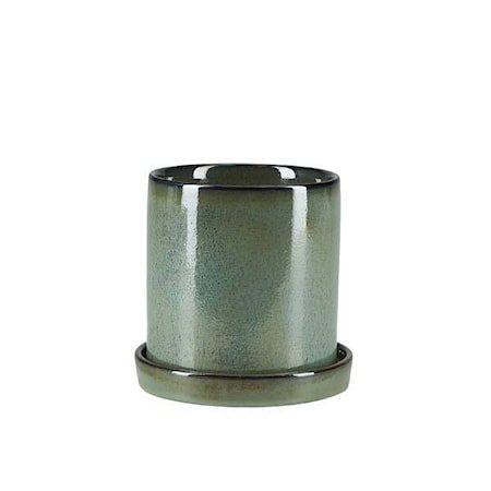 Krukke Med Fat Grønn 14 cm