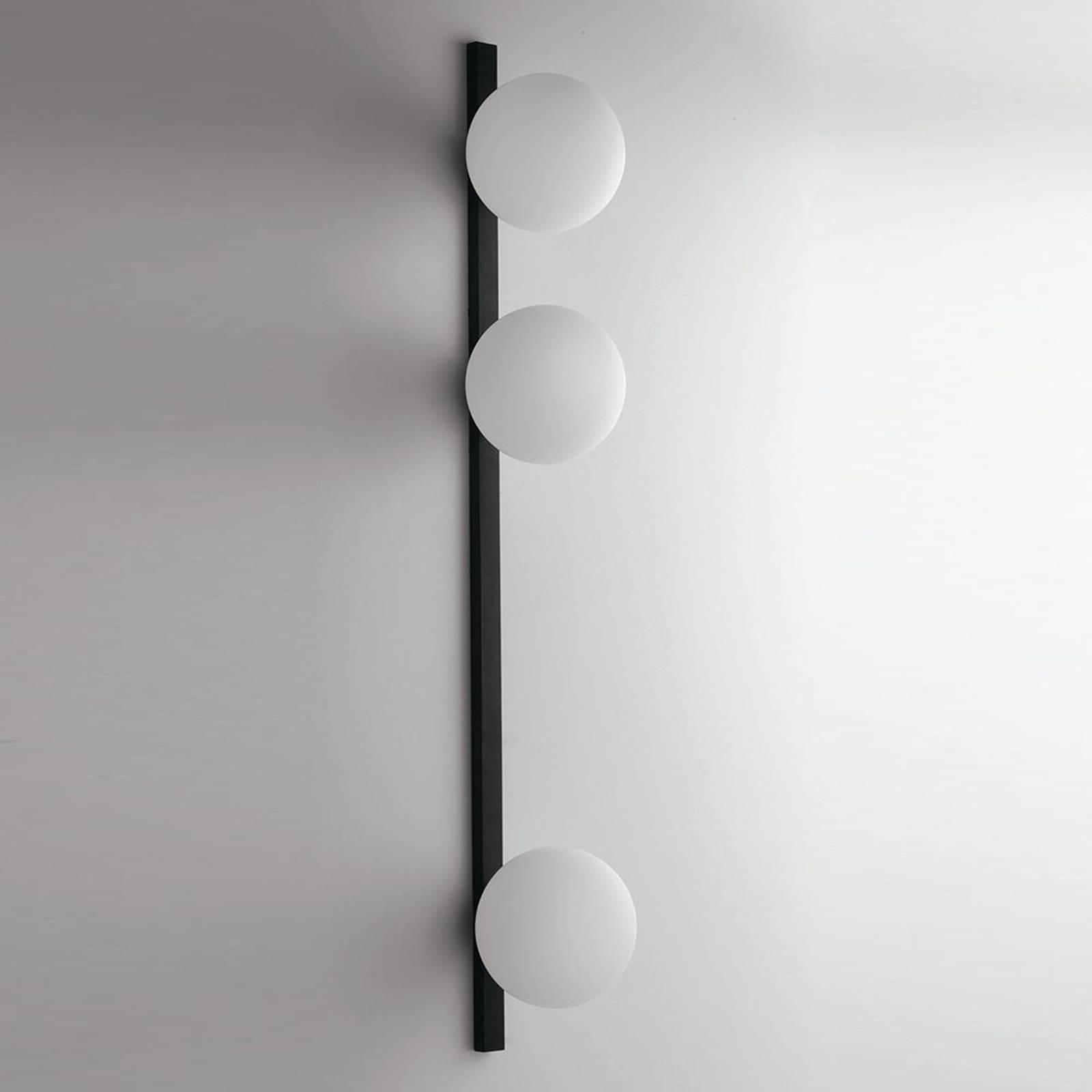Seinävalaisin Enoire musta ja valkoinen, 3-lamp.