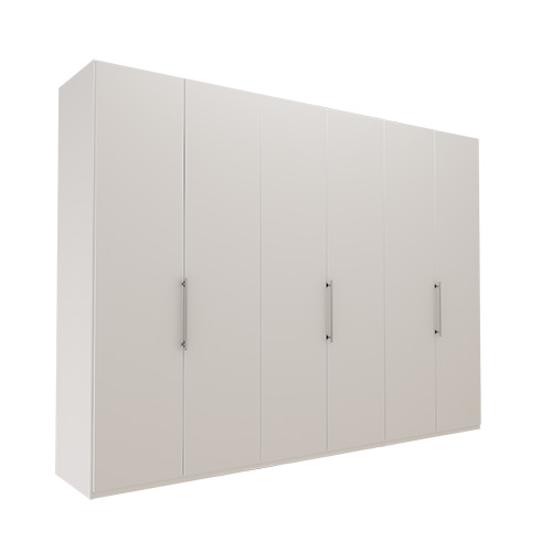 Garderobe Atlanta - Hvit 300 cm, 236 cm, Uten gesims / ramme