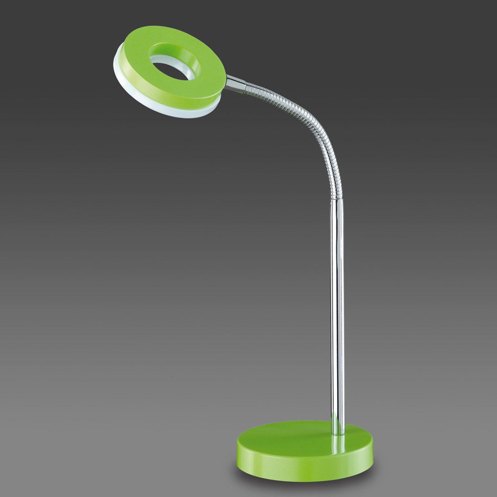 Grønn LED-bordlampe Rennes