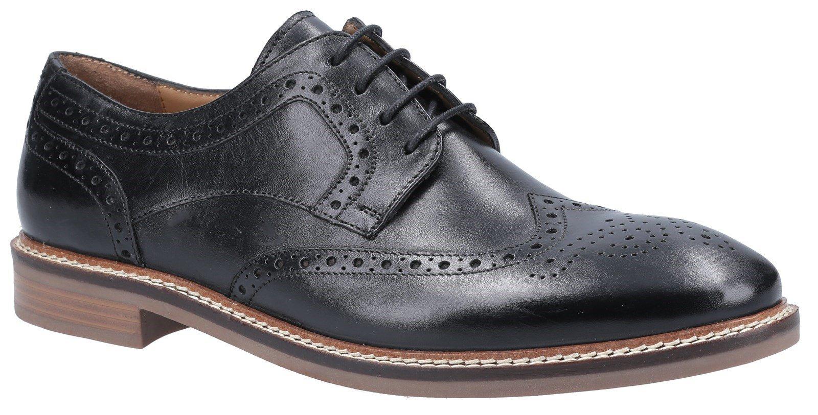 Hush Puppies Men's Bryson Lace Brogue Shoes Various Colours 31280 - Black 6