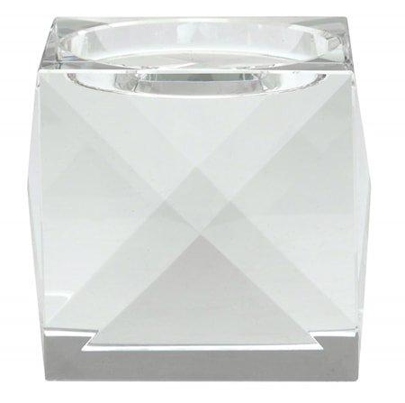 Krystall lysestake klart glass