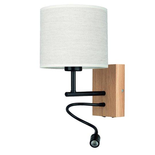 Vegglampe Sonny, LED-leselampe, sylinderskjerm