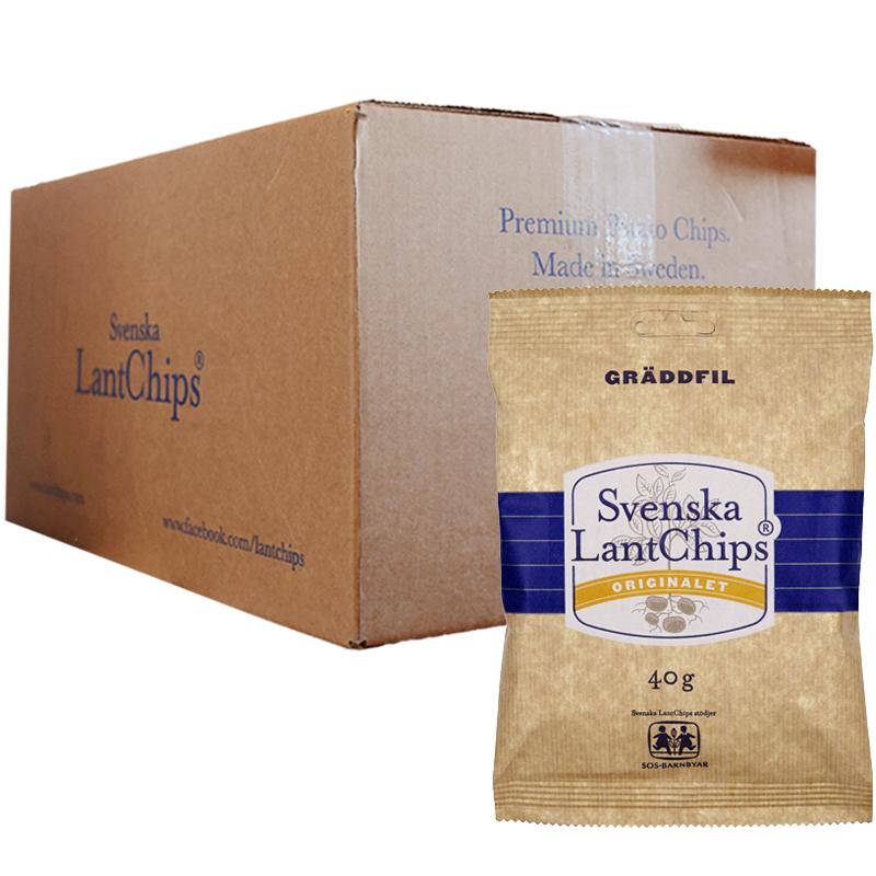 Hel Låda Chips Gräddfil 20 x 40g - 38% rabatt