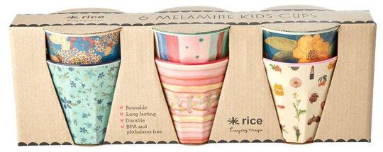 Rice Kopp Melamin Liten Believe in Red Lipstick 6-pack