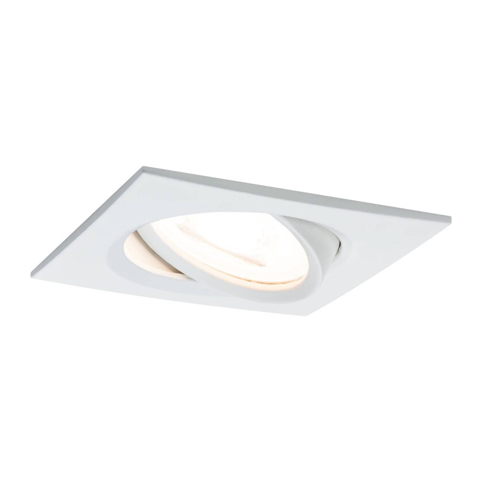 Paulmann LED-spotti Nova Coin kulmikas valkoinen