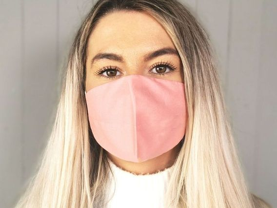 Pink Cotton Face Mask
