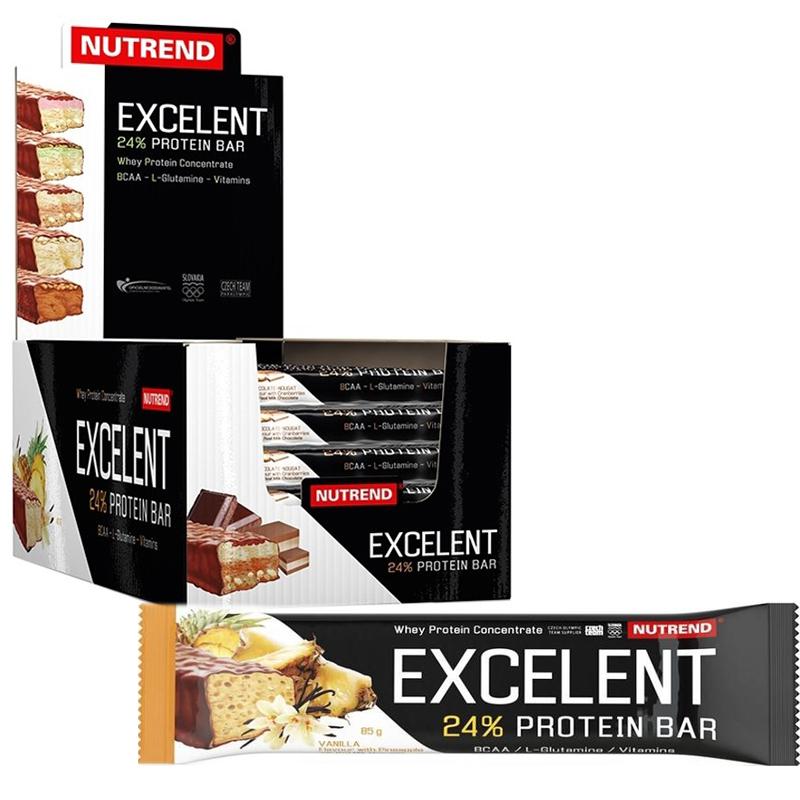 "Hel Låda Proteinbars ""Vanilla & Pineapple"" 18 x 85g - 57% rabatt"