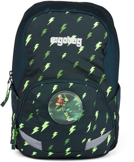 Ergobag Ease Flashlight Ryggsekk 10L, Black Green Blizzard