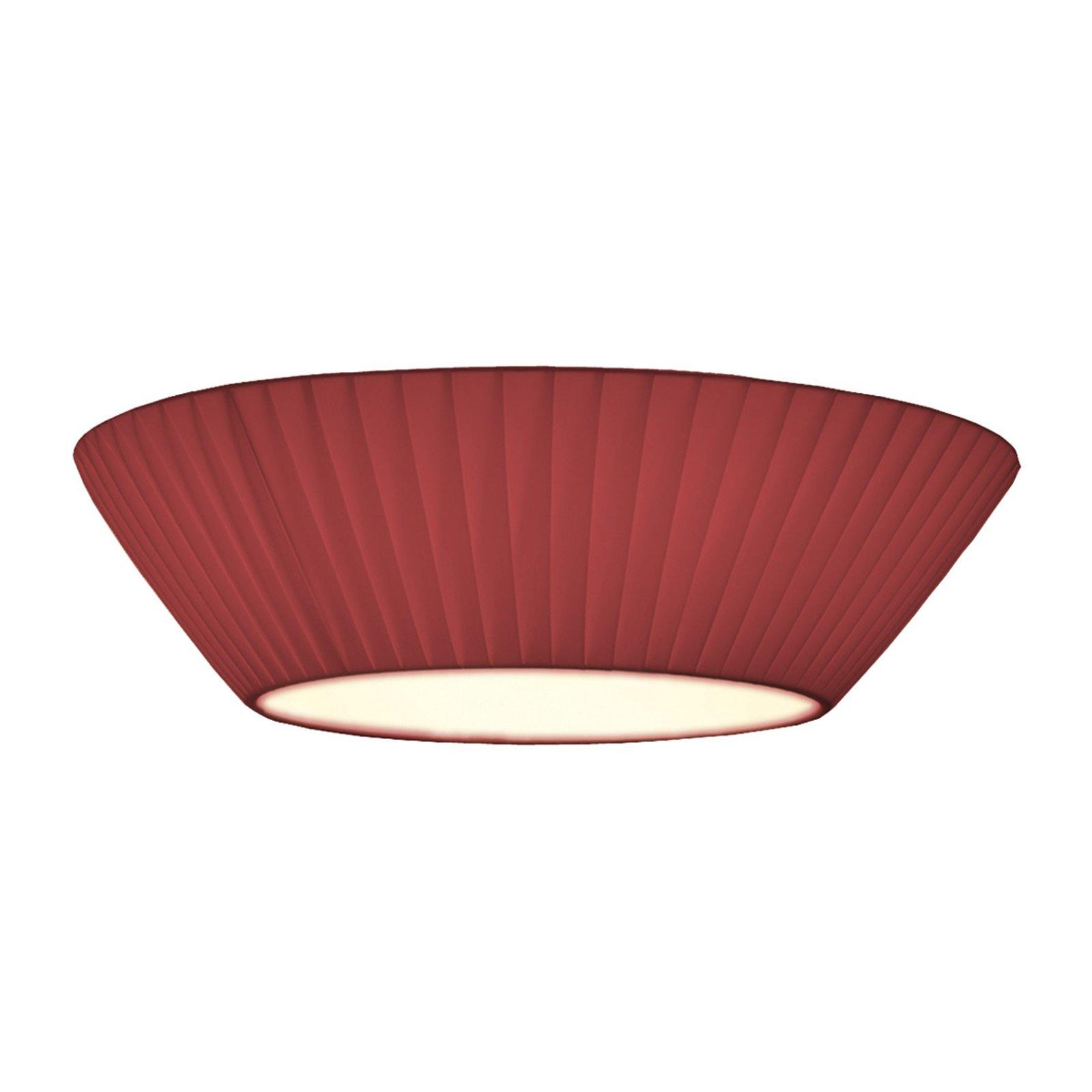 Enkel Emma taklampe i vinrødt Ø 50 cm