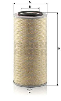 Ilmansuodatin MANN-FILTER C 24 650/6